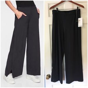 Athleta Grammercy Track Trouser Pants Black 8 NWT